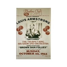 Louis Armstrong Poster Rectangle Magnet