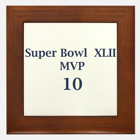 "Eli Manning ""Super Bowl MVP"" Framed Tile"