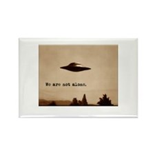 X-Files - We Are Not Alone Rectangle Magnet