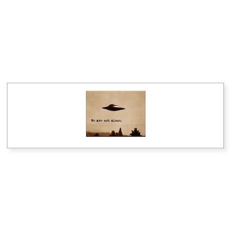 X-Files - We Are Not Alone Bumper Sticker