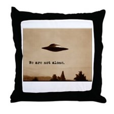 X-Files - We Are Not Alone Throw Pillow