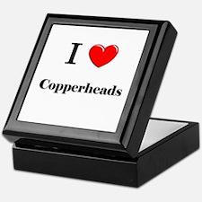 I Love Copperheads Keepsake Box