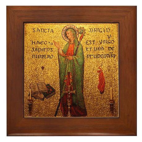 St Brigid Framed Tile