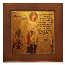 St Margaret of Antioch Framed Tile