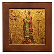 St Susanna Framed Tile