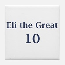 "Eli Manning ""Eli the Great"" Tile Coaster"