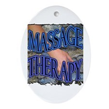 Massage Therapy Oval Ornament