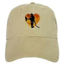 Firefighter and Flames Baseball Cap