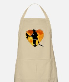Firefighter and Flames BBQ Apron