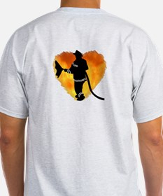 Firefighter and Flames T-Shirt