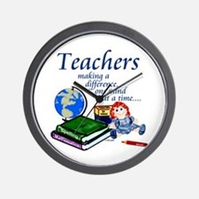 Teachers Making a Difference Wall Clock