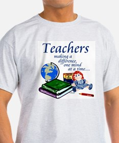 Teachers Making a Difference Ash Grey T-Shirt
