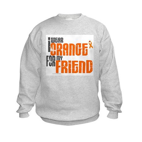 I Wear Orange For My Friend 6 Kids Sweatshirt