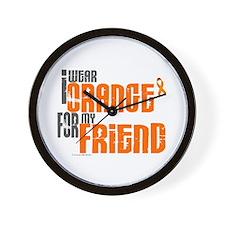 I Wear Orange For My Friend 6 Wall Clock
