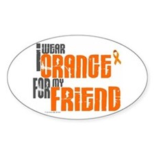 I Wear Orange For My Friend 6 Oval Decal