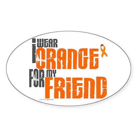 I Wear Orange For My Friend 6 Oval Sticker