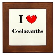 I Love Coelacanths Framed Tile