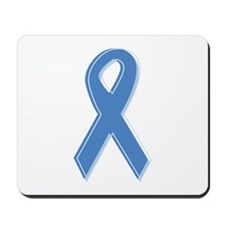Lt Blue Awareness Ribbon Mousepad