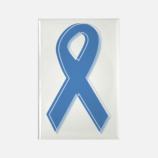Lt Blue Awareness Ribbon Rectangle Magnet