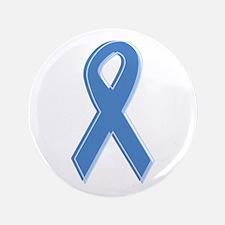 """Lt Blue Awareness Ribbon 3.5"""" Button"""