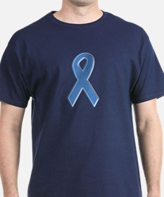 Lt Blue Awareness Ribbon T-Shirt