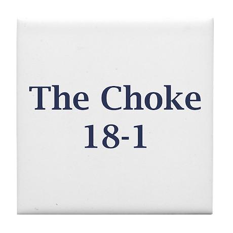 Giants Super Bowl (the choke 18-1) Tile Coaster