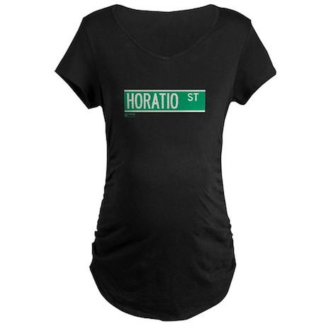 Horatio Street in NY Maternity Dark T-Shirt
