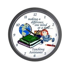 Teaching Assistants Wall Clock