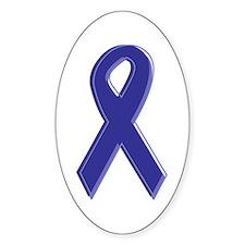 Purple Awareness Ribbon Oval Decal