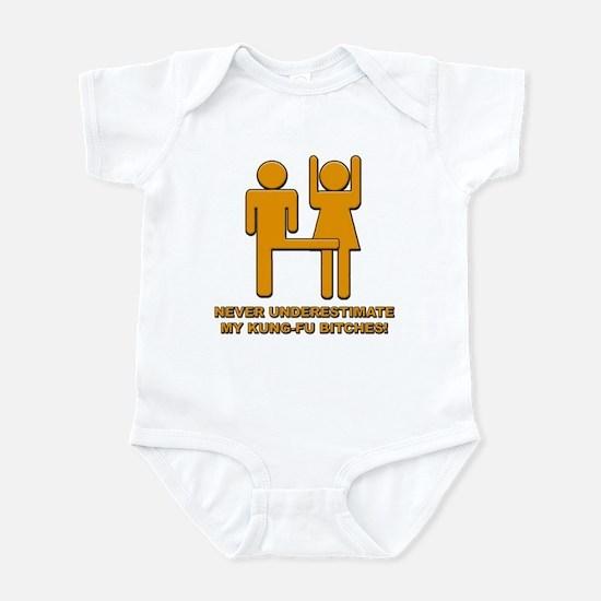 Never Underestimate My Kung Fu Infant Bodysuit