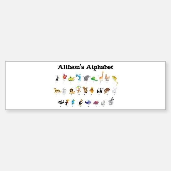 Allison's Animal Alphabet Bumper Bumper Bumper Sticker