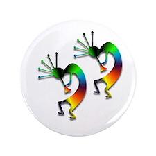 "Two Kokopelli #95 3.5"" Button (100 pack)"