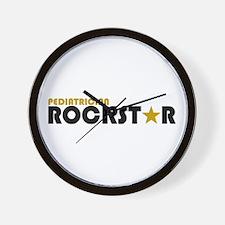 Pediatrician Rockstar 2 Wall Clock