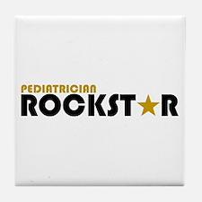 Pediatrician Rockstar 2 Tile Coaster