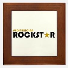 Pediatrician Rockstar 2 Framed Tile