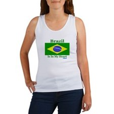 Brazil - Heart Women's Tank Top