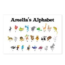 Amelia's Animal Alphabet Postcards (Package of 8)