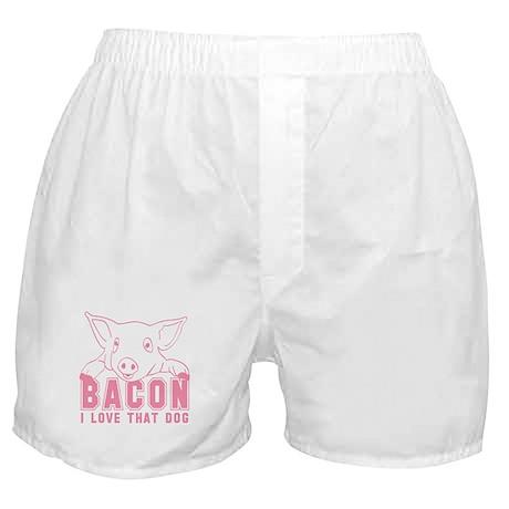 Bacon - Pink Imprint Boxer Shorts