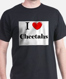 I Love Cheetahs T-Shirt