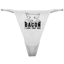 Bacon - Black Imprint Classic Thong