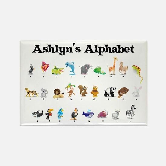 Ashlyn's Animal Alphabet Rectangle Magnet