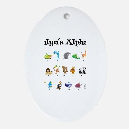 Ashlyn's Animal Alphabet Oval Ornament
