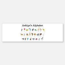 Ashlyn's Animal Alphabet Bumper Bumper Bumper Sticker