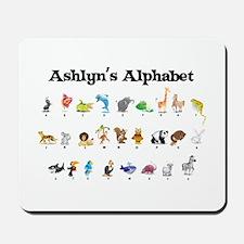 Ashlyn's Animal Alphabet Mousepad