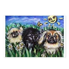 Happy Pekes under the smiling Postcards (Package o