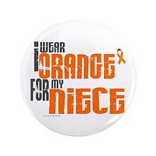 "I Wear Orange For My Niece 6 3.5"" Button"