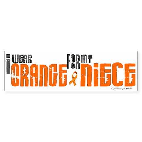 I Wear Orange For My Niece 6 Bumper Sticker