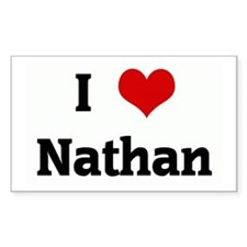I Love Nathan Rectangle Decal