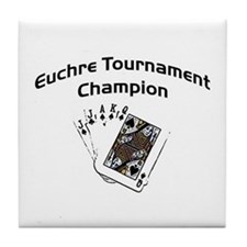 Euchre Tournament Tile Coaster