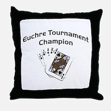 Euchre Tournament Throw Pillow